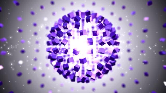 Globe Purple Background. Loopable