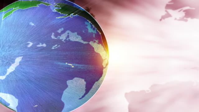 Globe with Warm Background