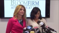 KTLA Gloria Allred and the woman at the center of an alleged extortion scandal involving Kevin Hart spoke out Wednesday stating she is also a victim...
