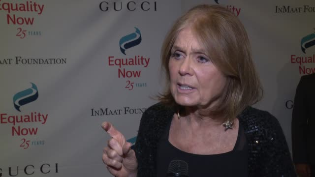 INTERVIEW Gloria Steinem on supporting the cause at 2017 Equality Now Gala at Gotham Hall on October 30 2017 in New York City