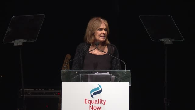 SPEECH Gloria Steinem talks about making progress for women's rights at 2017 Equality Now Gala at Gotham Hall on October 30 2017 in New York City