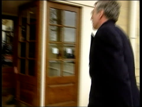 Gloucester EXT MS Jack Straw MP out of car along past into building London Home Office CBV Ghosh as interviews Jack Straw Jack Straw MP interviewed...