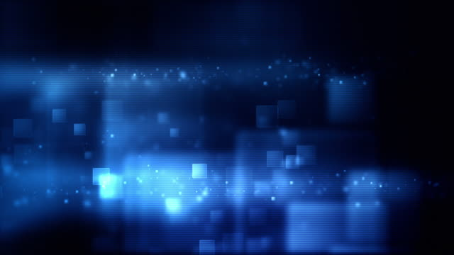 Glowing Boxes Loop - Full Screen (Blue HD)