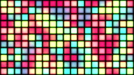 Glowing Grid of Multicoloured Squares | Colours Change with Random Generative Flicker Effect