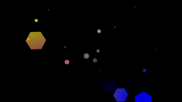 Glühend hexagons, bokeh, coolen abstrakte Bälle, dynamische Hintergrund