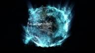 Glowing Liquid Earth
