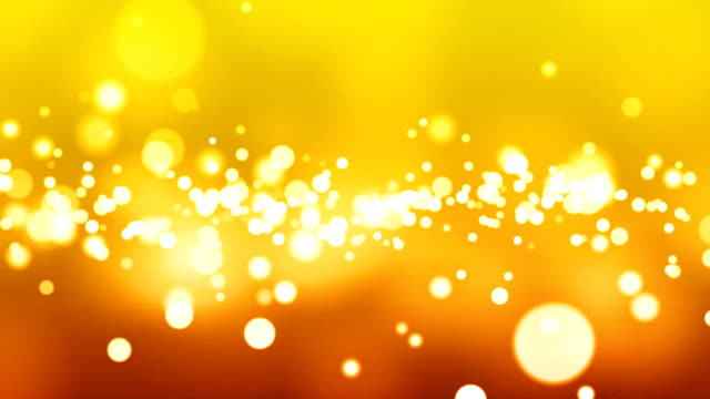 Glowing Particles  - Yellow/gold