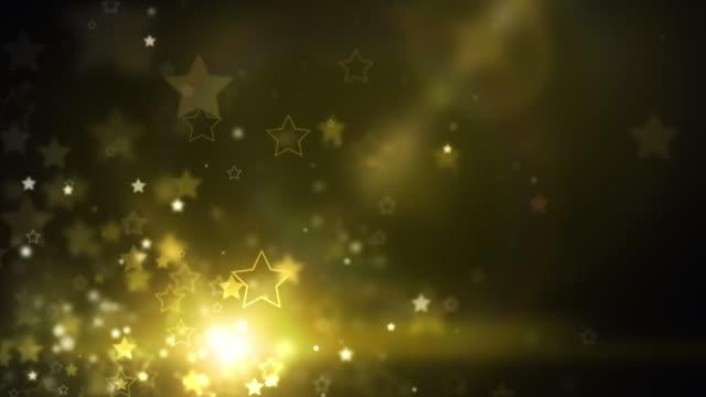 Glühend Sterne Hintergrund, Loop-GoldenShine (Full HD