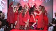 Go Red Models party at Go Red Women Red Dress Collection Runway Fall 2015 MercedesBenz Fashion Week at The Theater at Lincoln Center on February 12...