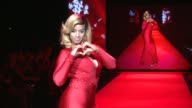 CHYRON Go Red Women Red Dress Collection Runway Fall 2015 MercedesBenz Fashion Week at The Theater at Lincoln Center on February 12 2015 in New York...