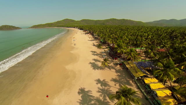 Goa Palolem Beach Aerial view
