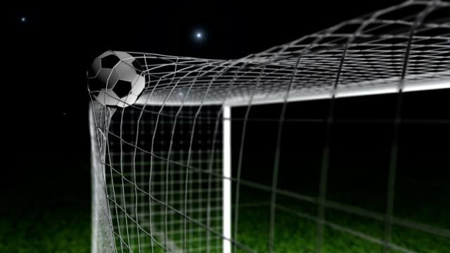 Mål - fotboll / fotboll bollen i nät