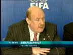 Manchester INT Brian Barwick press conference commenting on goal line technology SOT think it's step forward / we were also allowed to see two very...