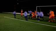 Ziel hast eine Ecke im Fußball oder football-Spiel