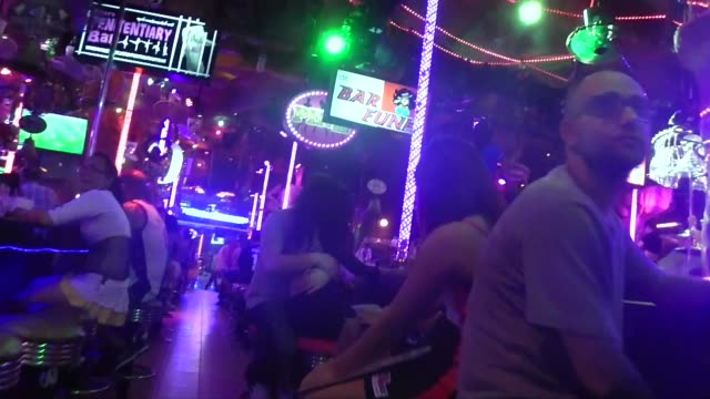 Gogo dancers on Bangla Road in Patong on Phuket Island in southern Thailand Bangla Road is the center of the nightlife in Patong with many gogo bars...