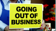 Going Out of Business-segnale inglese
