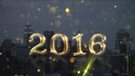 Goud 2016 countdown New York gouden glitter