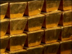 Gold bars in vault Bank of England