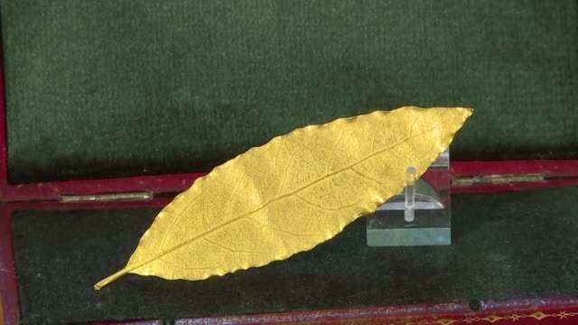 A gold bay leaf that was created for Napoleon's crown was sold 625000 euros on Sunday