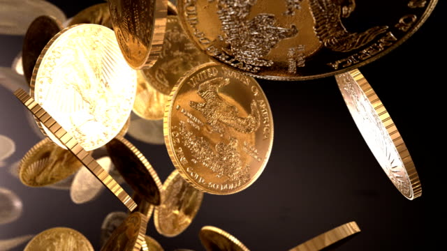 U.S.A. Gold Bullion Coins Falling Column