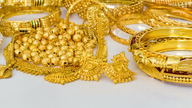 Gold Jewelry close up