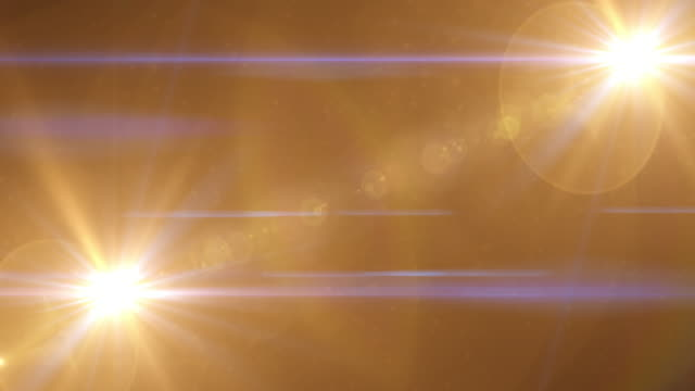 Gold Light Lens Flare Abstract Background