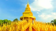 Gold pagoda in Thailand, Time lapse.