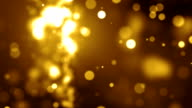 Gold Particles Background Video Loop (Full HD)