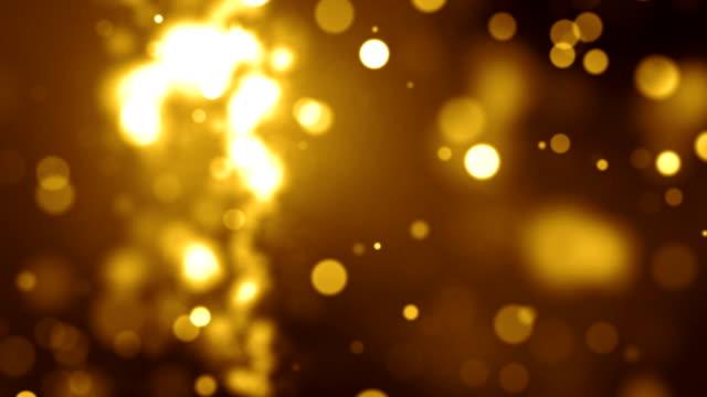 Goldene Partikel-Hintergrund-Loop (Full HD)