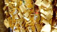 gold Blatt Schnur des Buddhismus faith