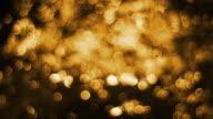 golden defocused Particles