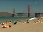 Golden Gate Bridge und den Strand