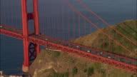 AERIAL ZO Golden Gate Bridge, San Francisco, California, USA