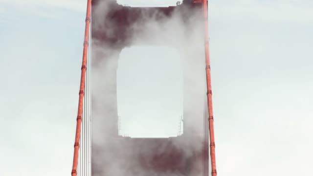 Golden Gate Bridge Tower With Fog
