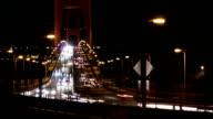 Golden Gate Bridge bei Nacht Verkehr