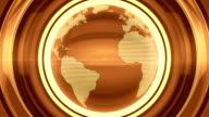Golden Glossy Globe