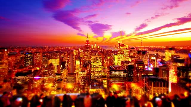 Golden New York City.