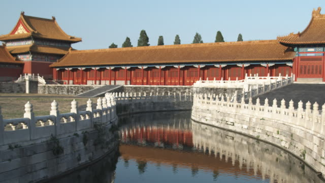 WS Golden Stream and marble balustrades at Imperial Palace in Forbidden City / Beijing, China