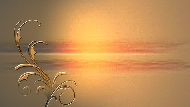 Golden vine background