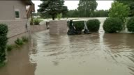 WDAF Golf Clubhouse Golf Cart Golf Course Under Floodwater in Kansas City Mo on July 27 2017