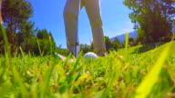 Golfer Chipping the Golf Ball