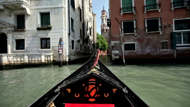 POV Gondola on Grand Canal, Venice, Veneto, Italy