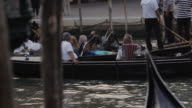 WS PAN Gondolas Carrying People down Grand Canal / Venice, Italy