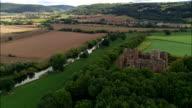 Goodrich Castle-Vista aerea-Inghilterra, ovvero le varietà Herefordshire, Regno Unito