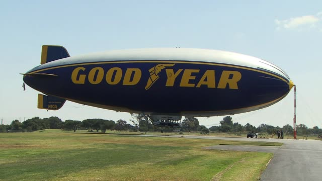 KTLA Goodyear BlimpFull View on May 07 2013 in Los Angeles CA