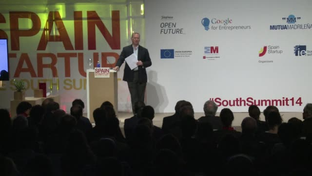 Google chairman Eric Schmidt speaks at the South Summit in Madrid about start ups regulations and platforms