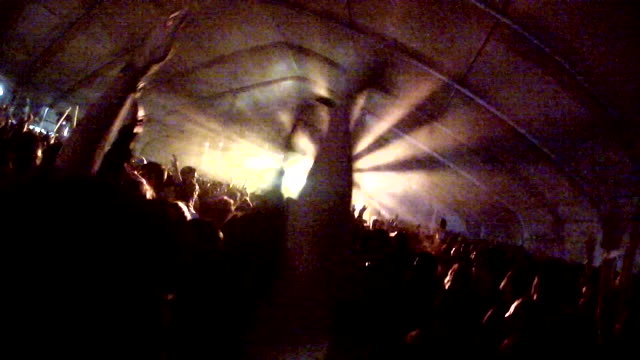 GoPro Crowd shot of music festival (tent)