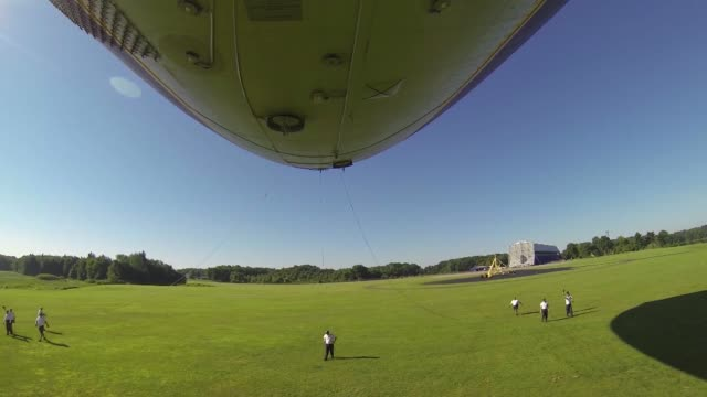 GoPro Footage of a Goodyear Blimp crew preparing a Zeppelin for take off outside of the Goodyear Airdock in Akron Ohio Goodyear Blimp GoPro Footage...