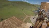 KSTU GoPro point of view of People Ziplining at Zipline Utah at Deer Creek Reservoir in Salt Lake City Utah on May 18 2017