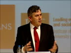 Gordon Brown addresses debate at the Fabian Society Richards asks question about special relationship with the United States SOT / Brown response...